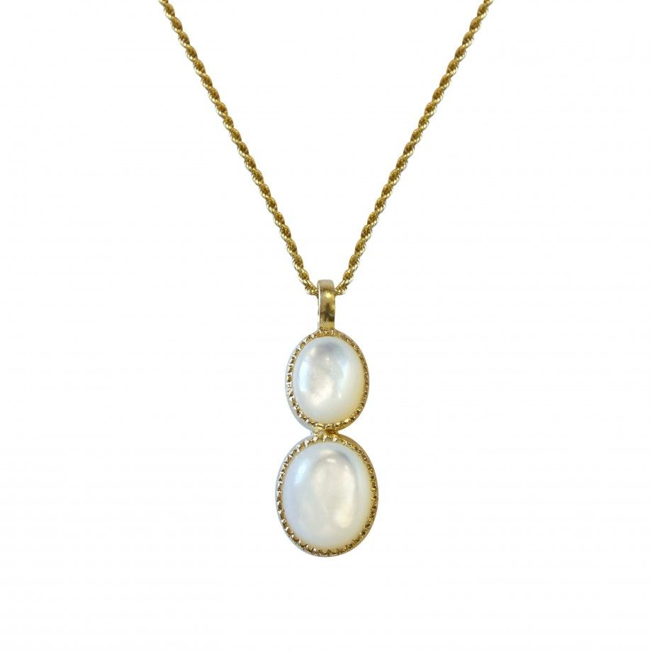 Necklace Golden Mother of Pearl