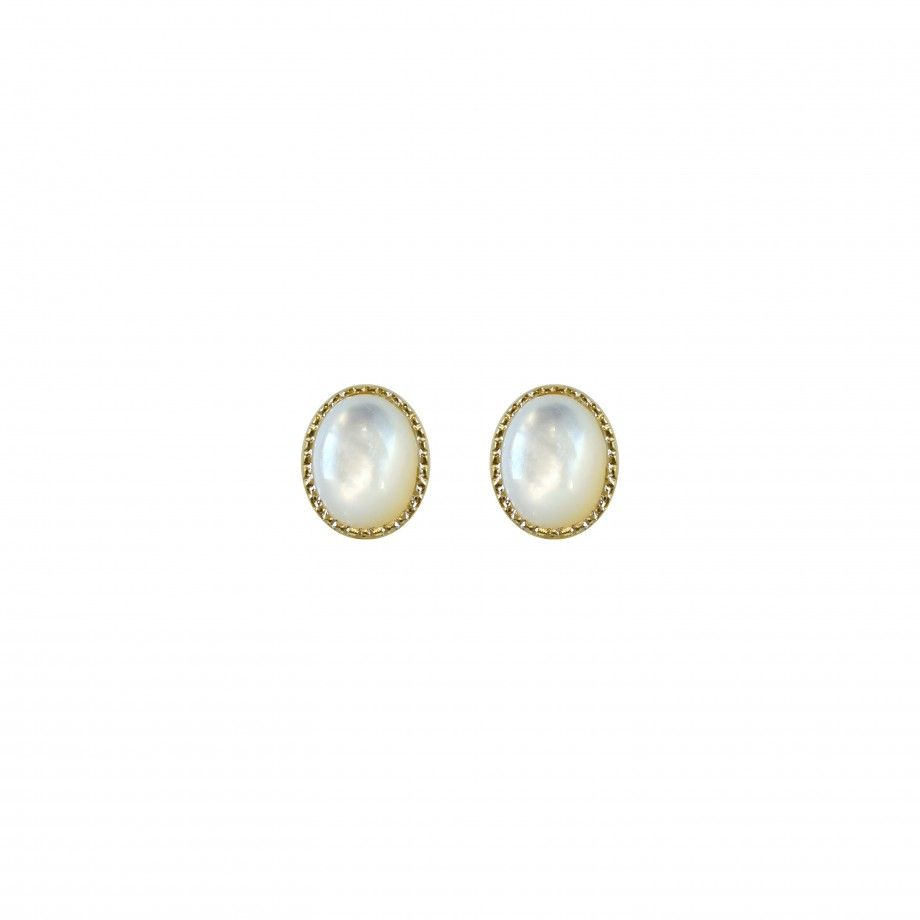 Earrings Golden Mother of Pearl