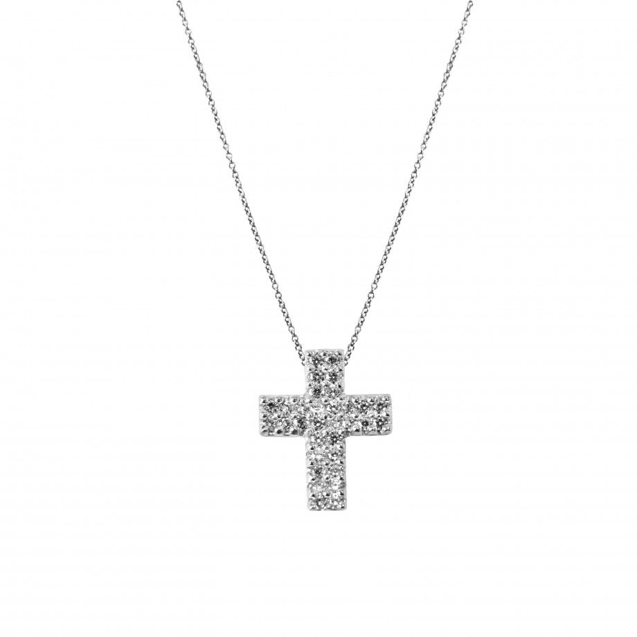 Necklace Carved Cross Divine