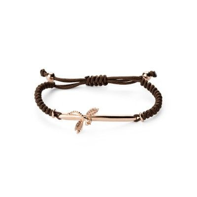 Bracelet Macrame Brown DragonFly