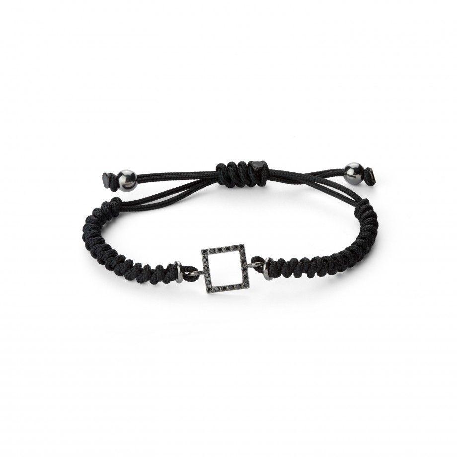 Bracelet Macrame Square Black