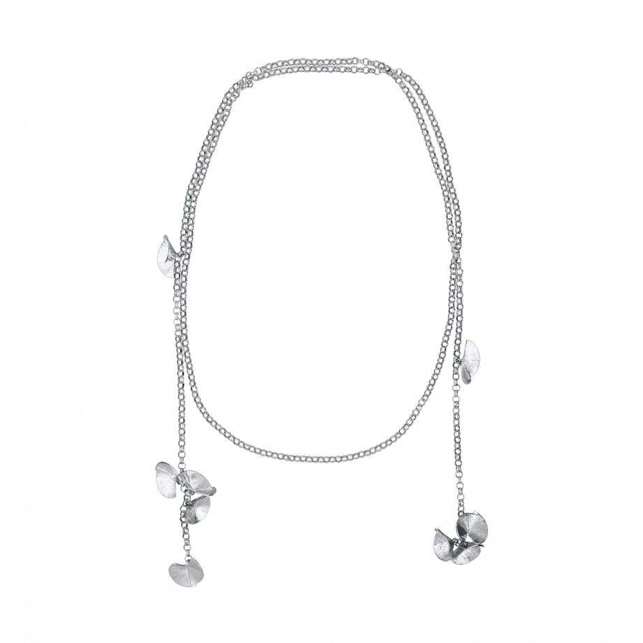 Necklace Long Chain and Pearl Fuji