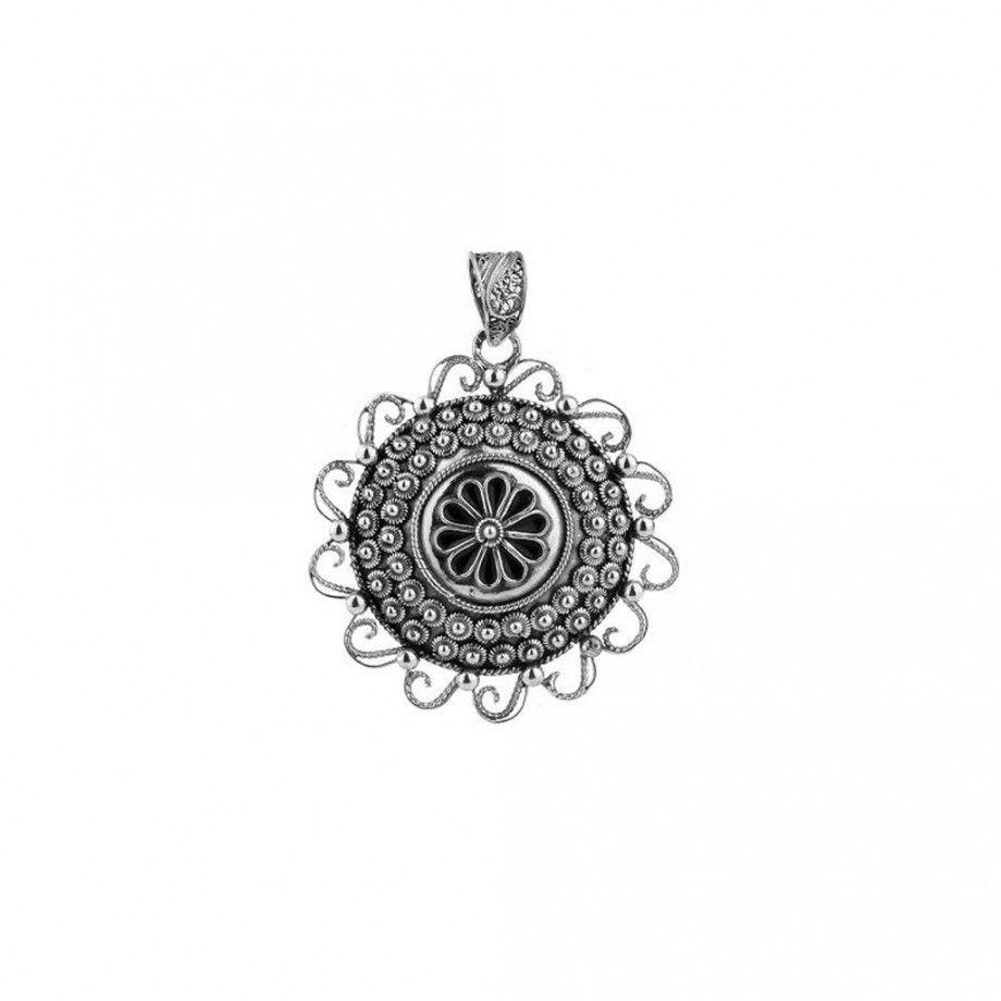 Medalhão Filigrana Flor