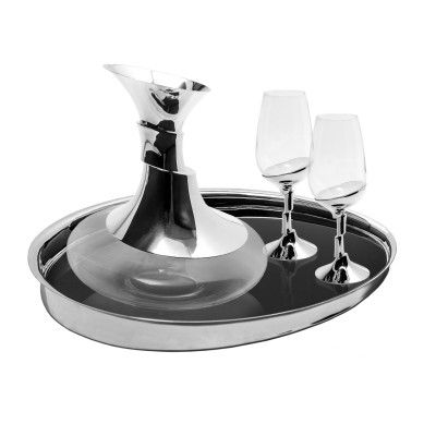 Oporto Wine Set Artica - Tray+Decanter+2 Oporto Wine Glasses