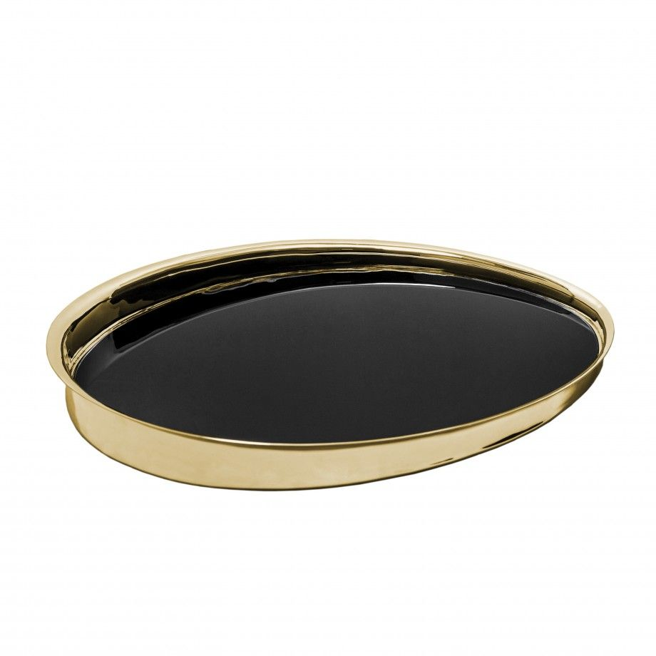 Oval Tray Artica Golden