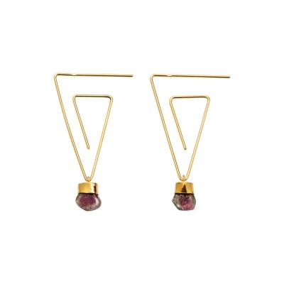 Earrings Triangular Printemps