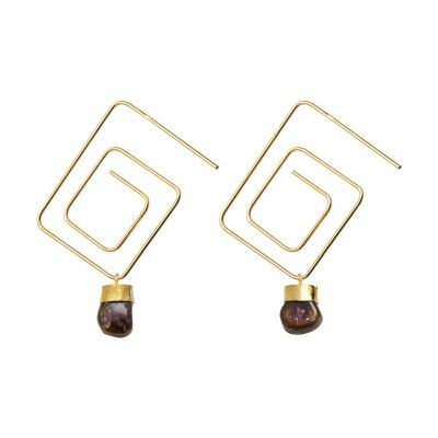 Earrings Square Printemps
