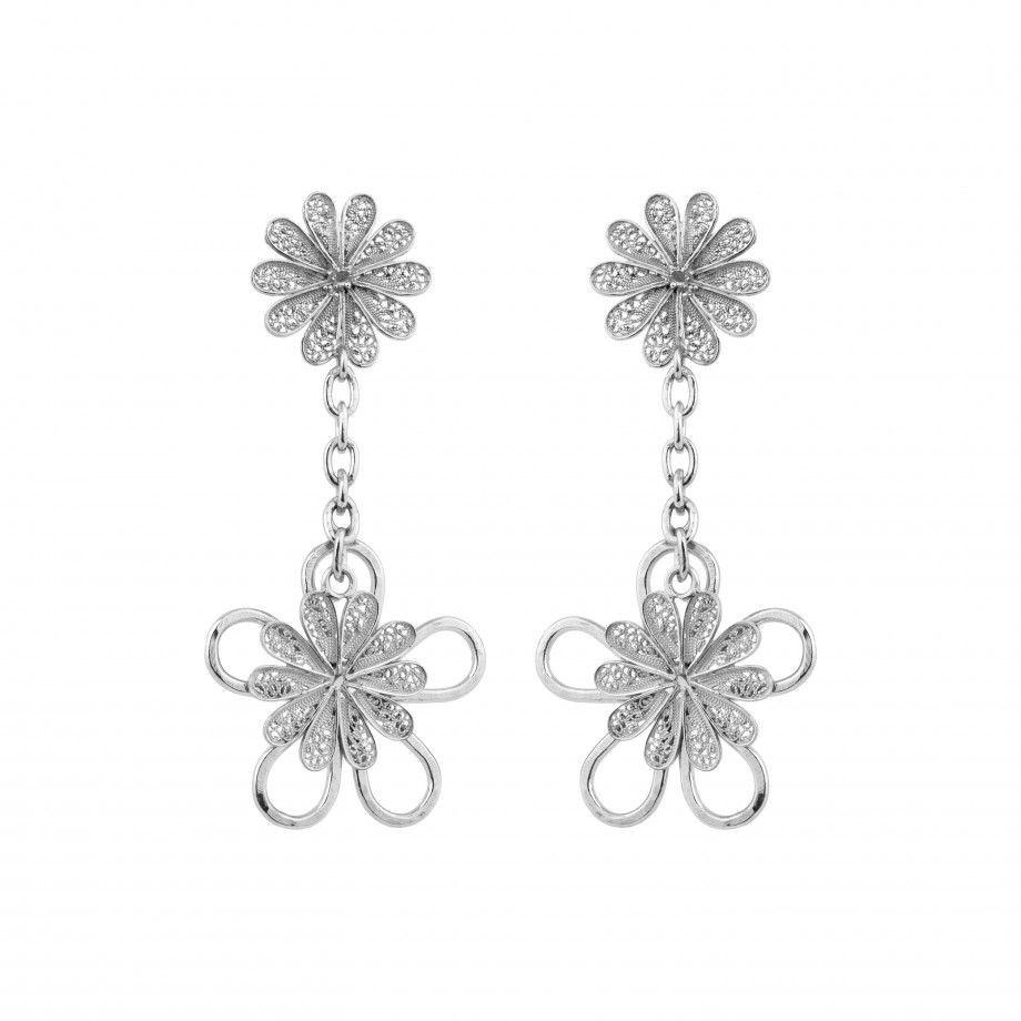 Earrings Filigree Flower