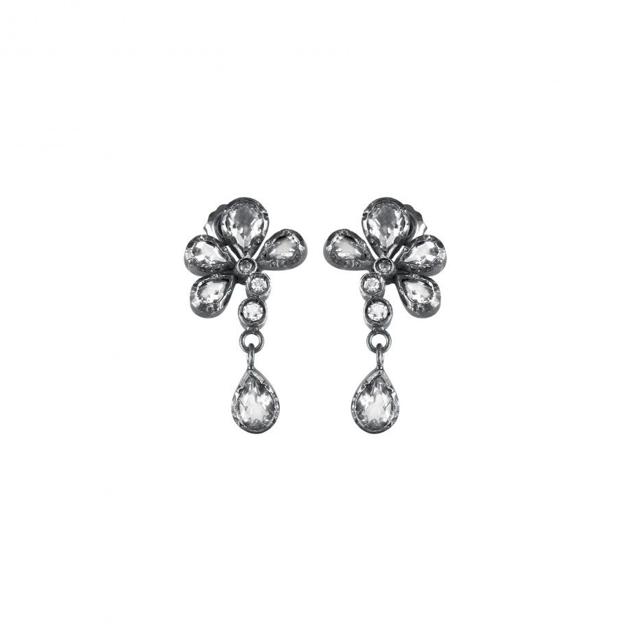 Earrings Flower - Quartz