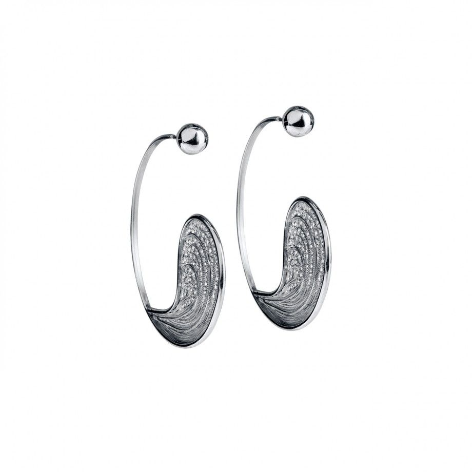 Earrings Hoop Droplet