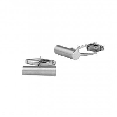 Cufflinks Cylinder Brushed