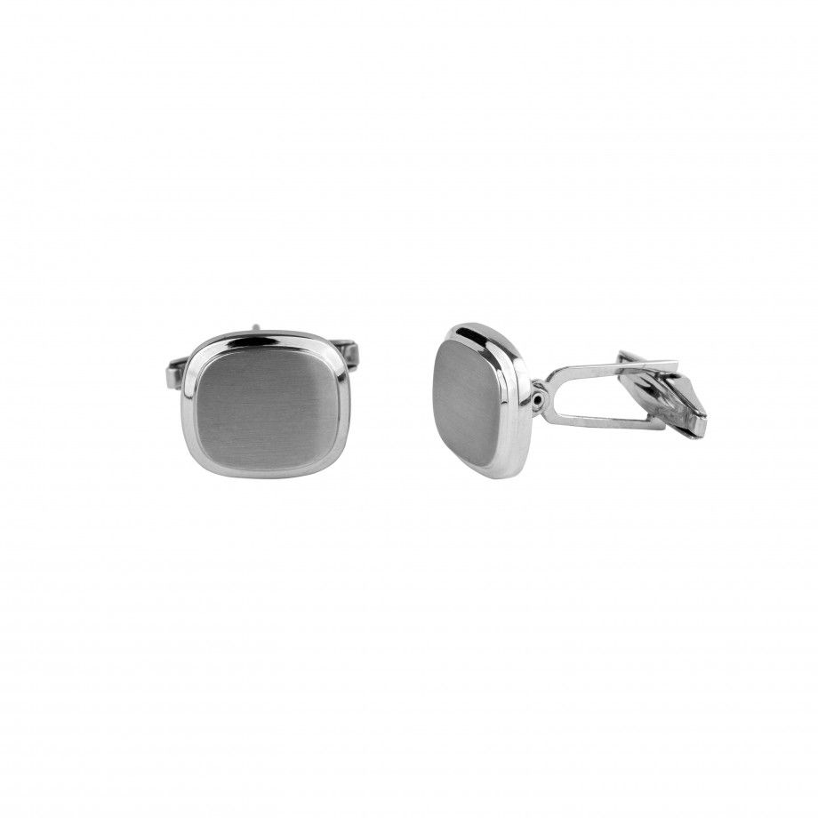 Cufflinks Rounded Burnell - Brushed