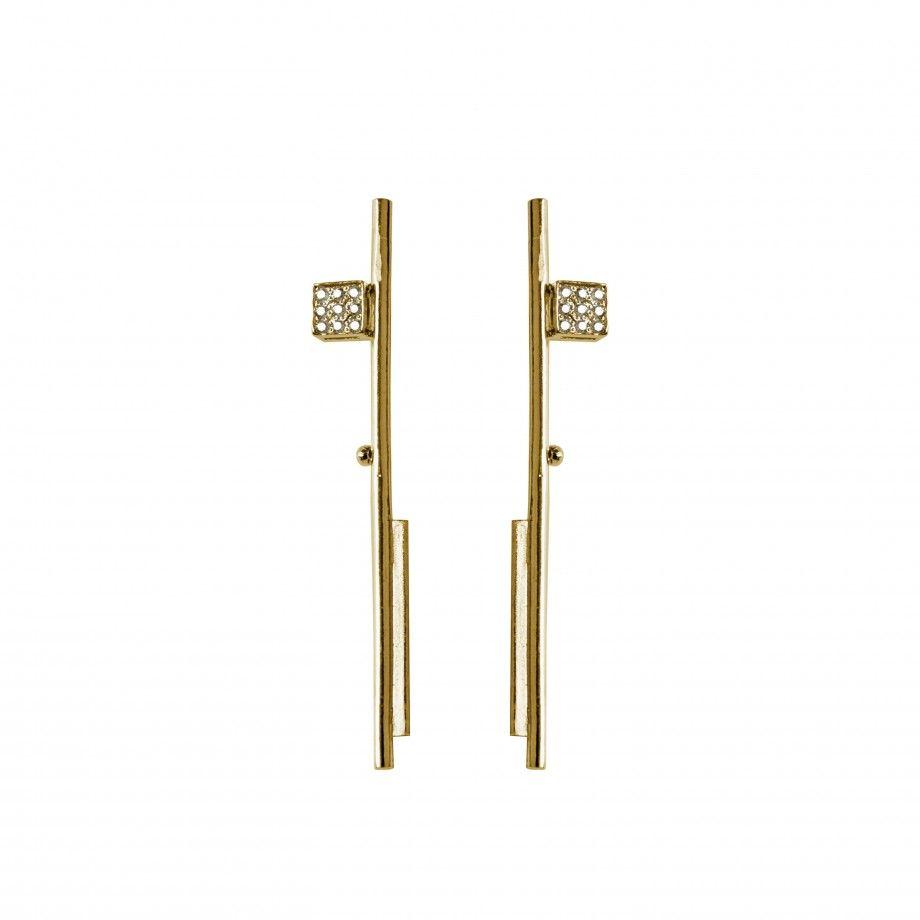 Brincos Bauhaus dourados
