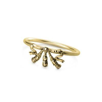 Napkin Ring Bow Golden