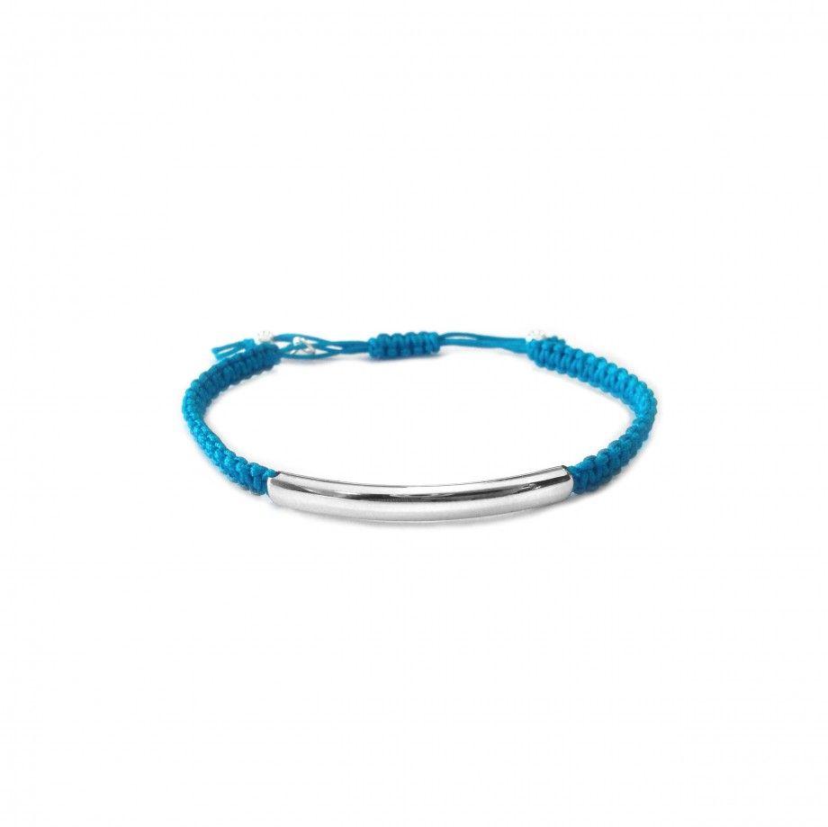 Pulseira Macramé - Azul Petróleo