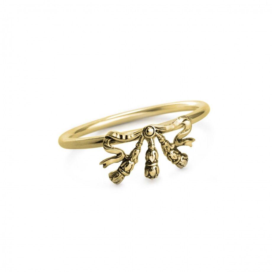 Argola de Guardanapo Laço Dourado