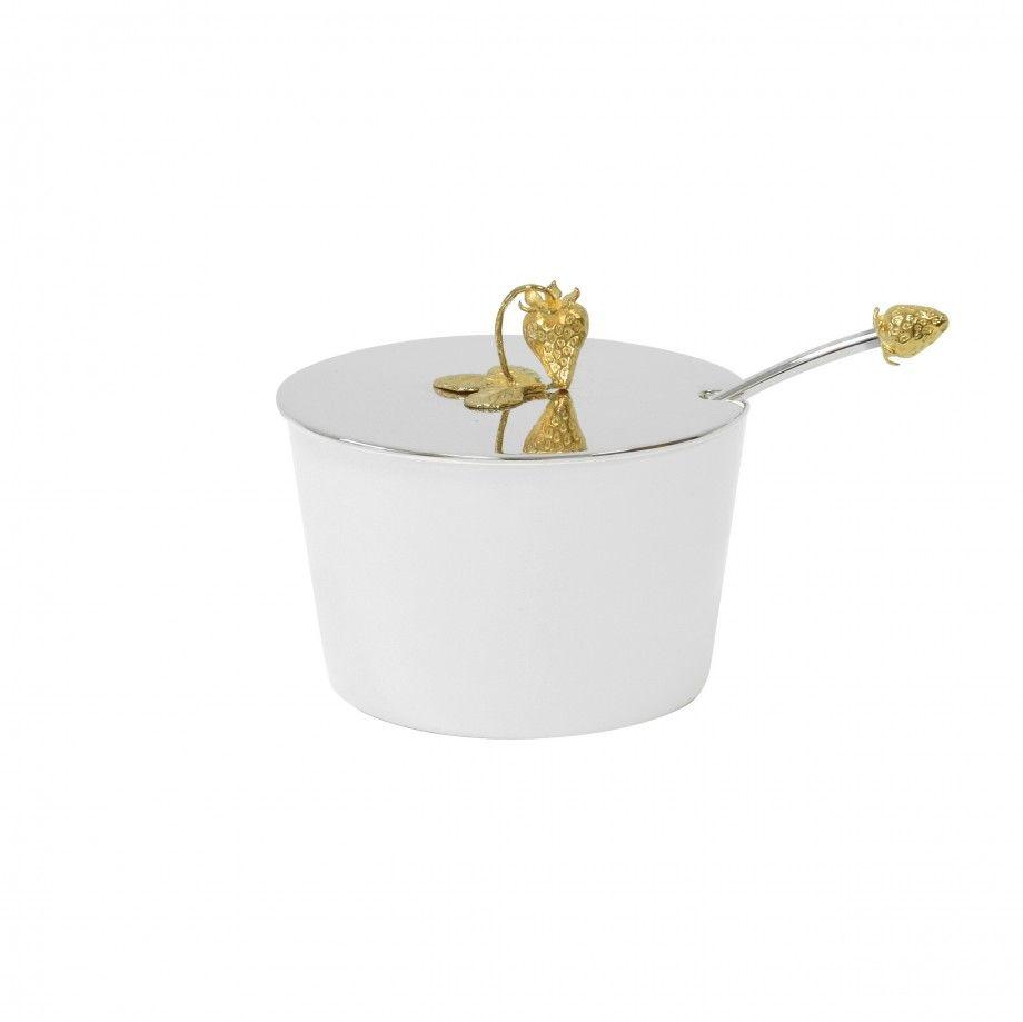 Compoteira Morango Dourado
