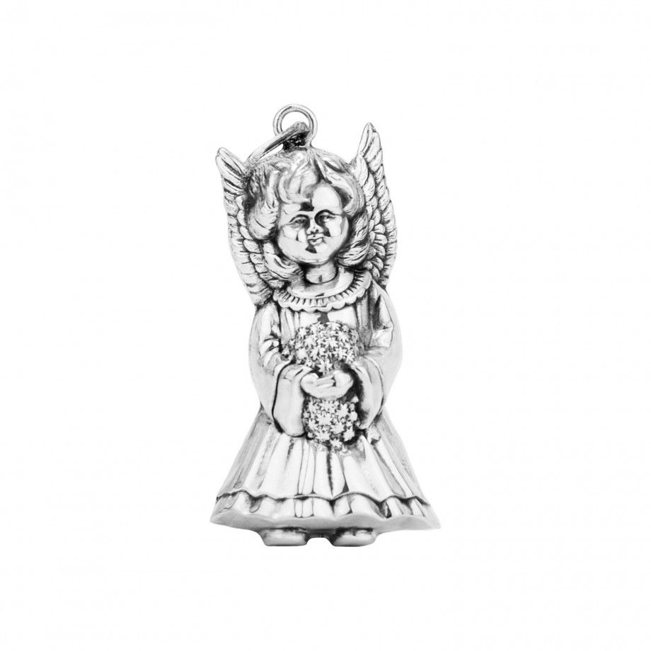 Pendant Angel with Flowers