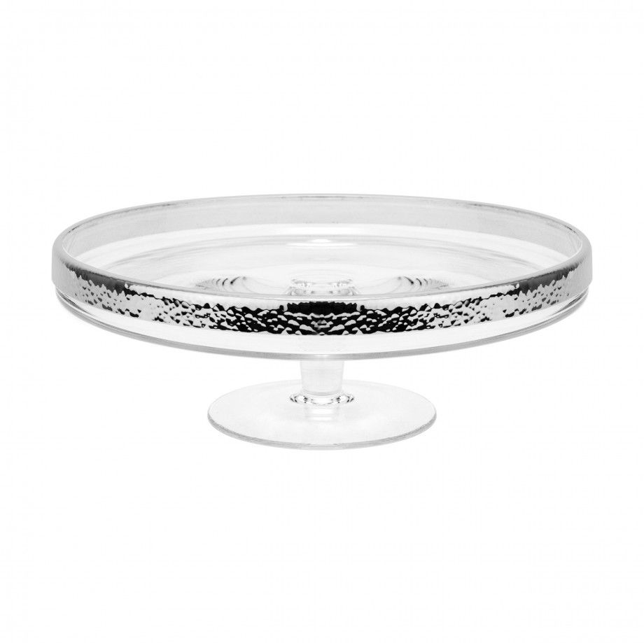 Cake Plate Hammered