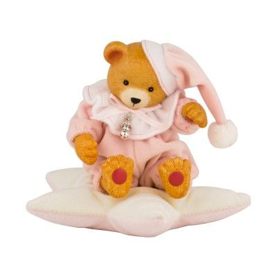 Music Box Bear in Star - Pink