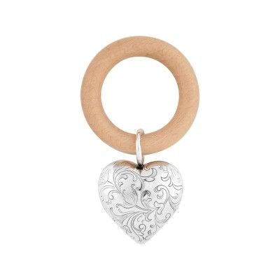 Teething Ring Engraved Heart