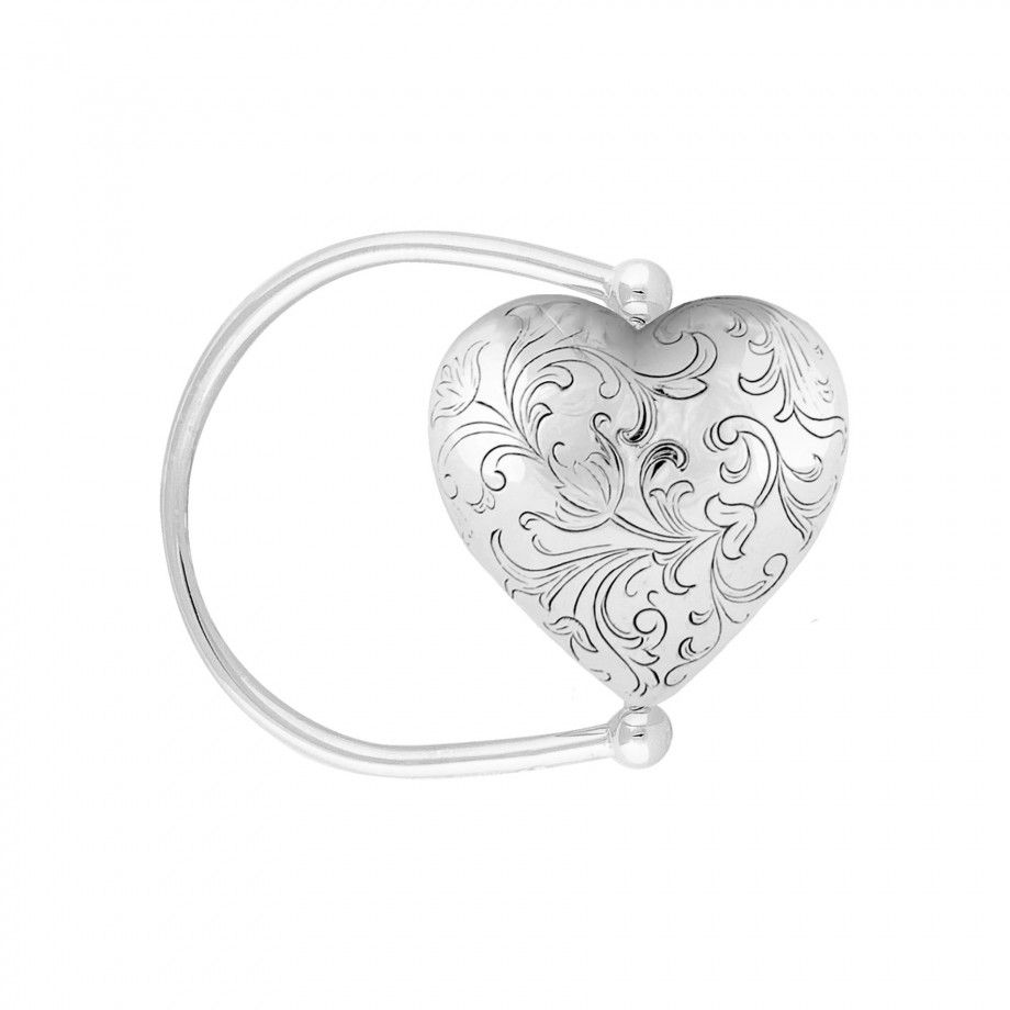 Rotation Rattle Engraved Heart