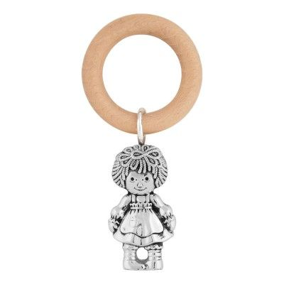 Teething Ring Rag Doll Girl