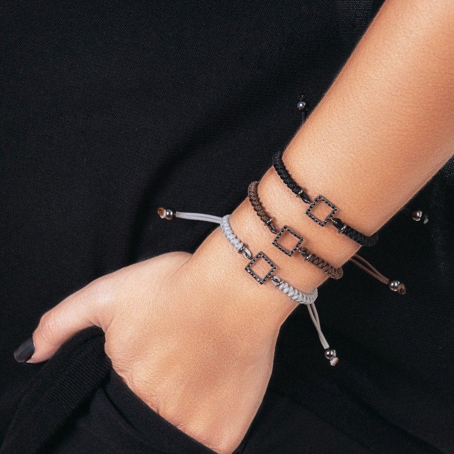 Bracelet Macrame Square Brown