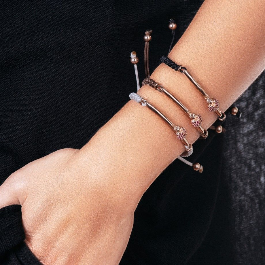 Bracelet Macrame Beige Ladybug