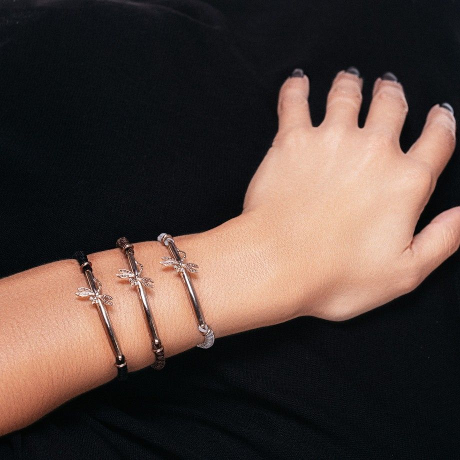 Bracelet Macrame Black DragonFly
