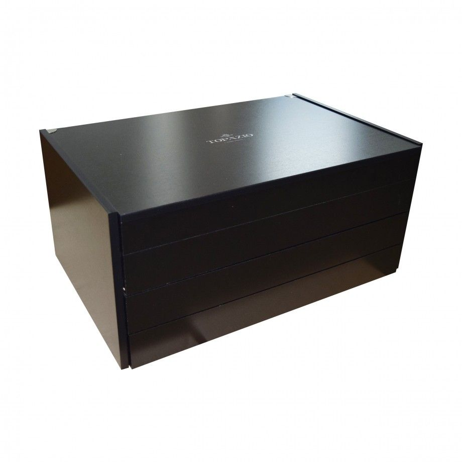 Wood Box 130 Pcs - Stainless Steel and Silver Plated
