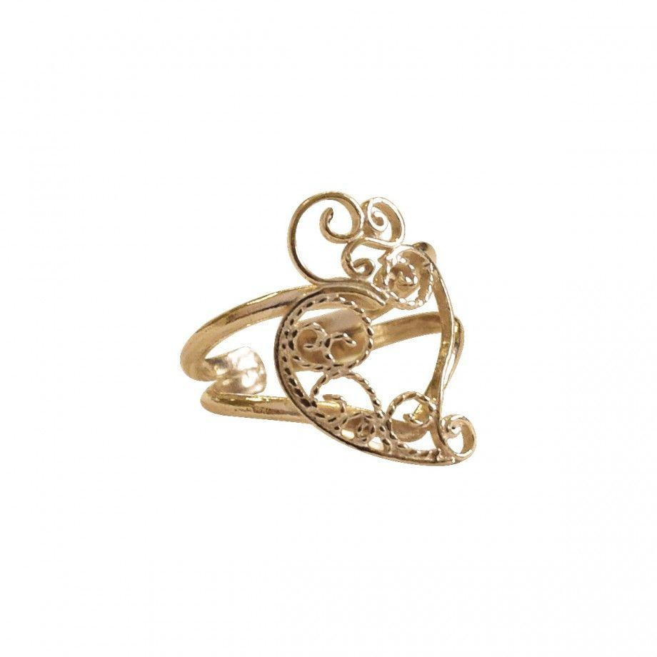 Ring Coração D'Ouro