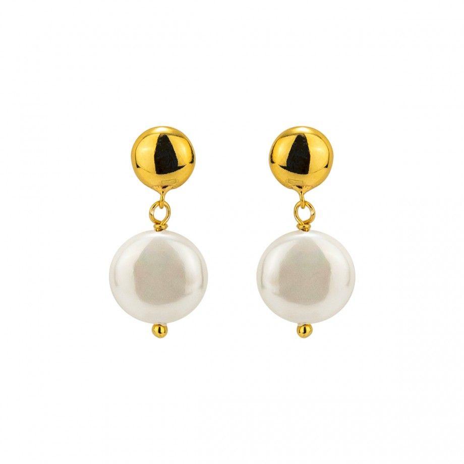 Earrings Dot - Golden