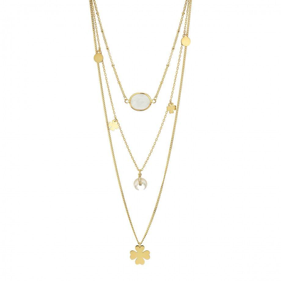 Triple Necklace Clover - Golden