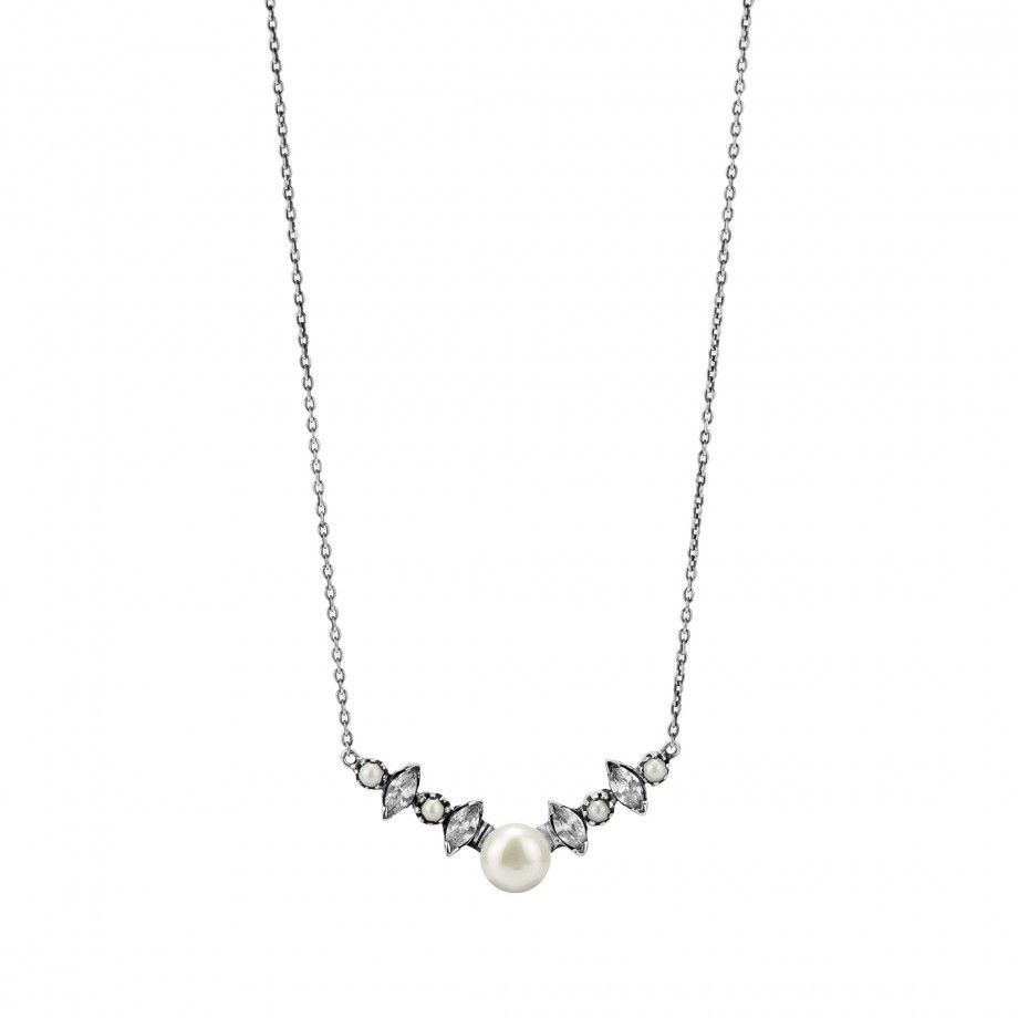Necklace with Pearls Navette