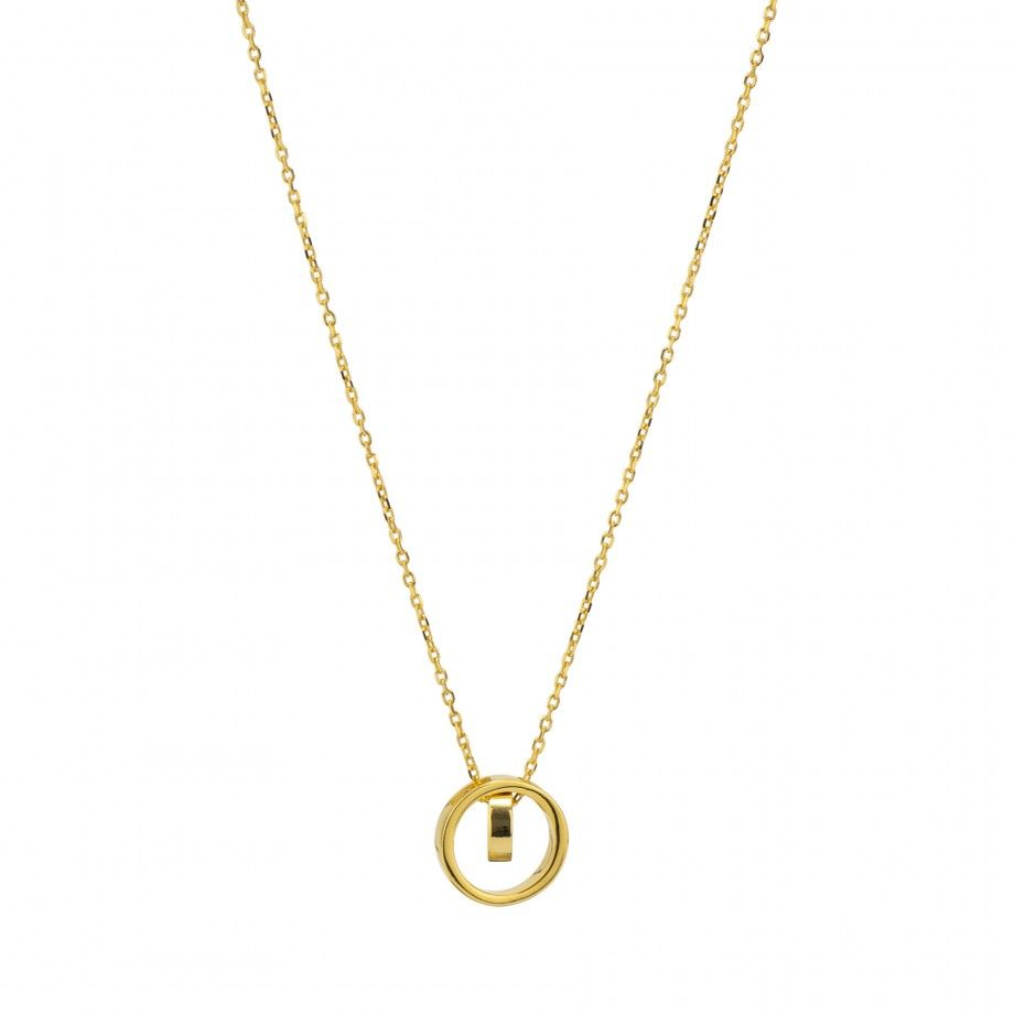 Necklace Intertwined Circles - Golden