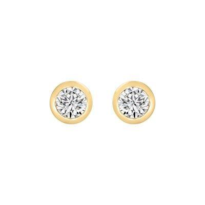 Earrings Zircon with Gold