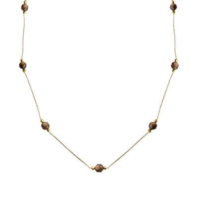 Necklace Chain Stone Fumé