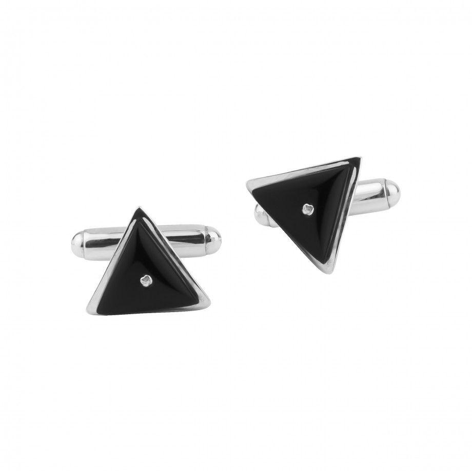 Cufflinks Triangle w/ Stone