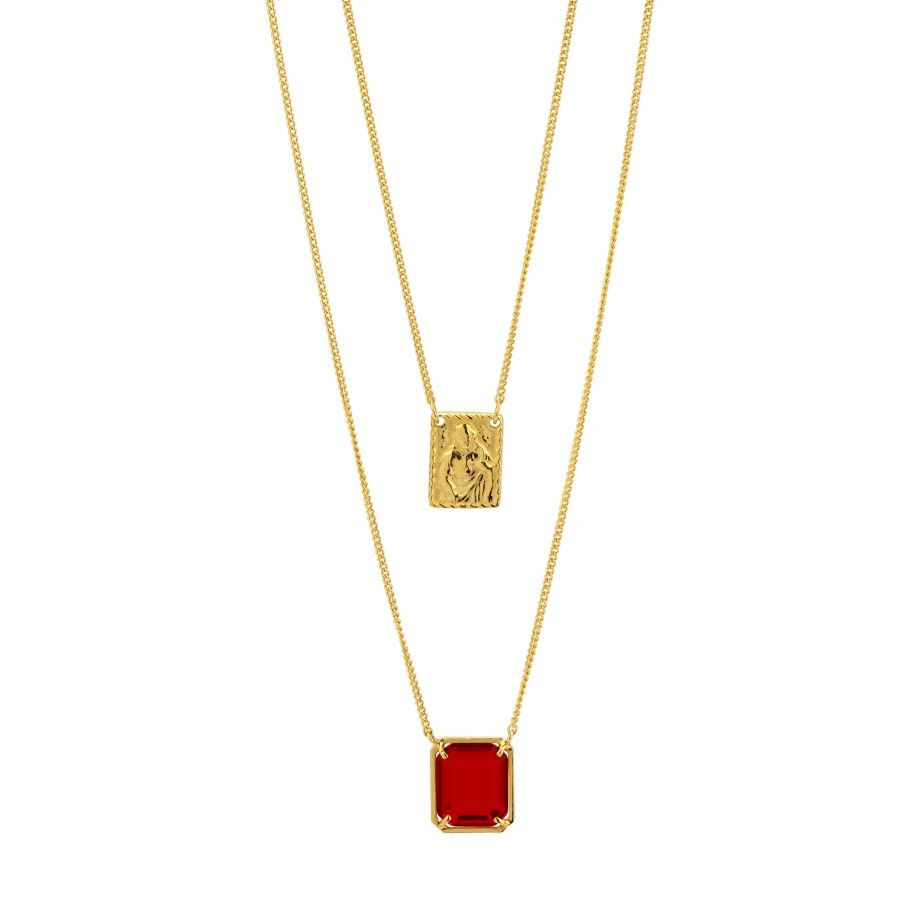 Scapular Necklace - Red