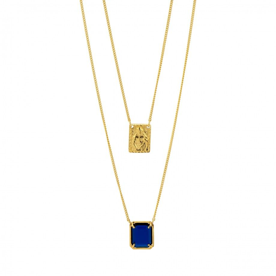 Scapular Necklace - Blue