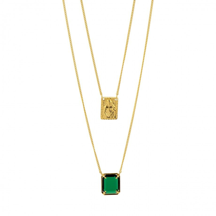 Scapular Necklace - Green