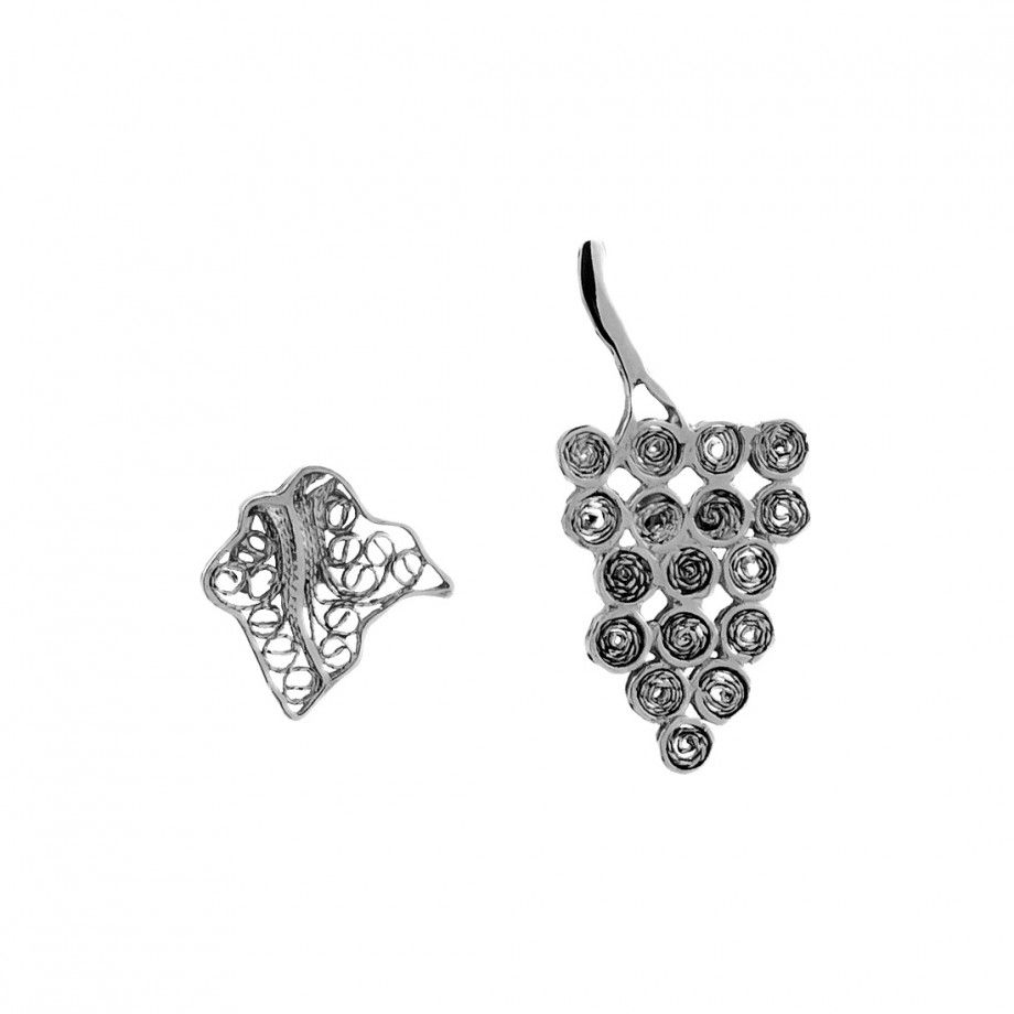 Earrings Grapes and Leaf