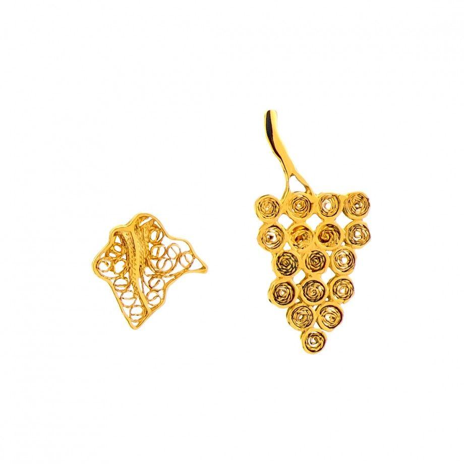 Brincos Uva e Parra - Dourado