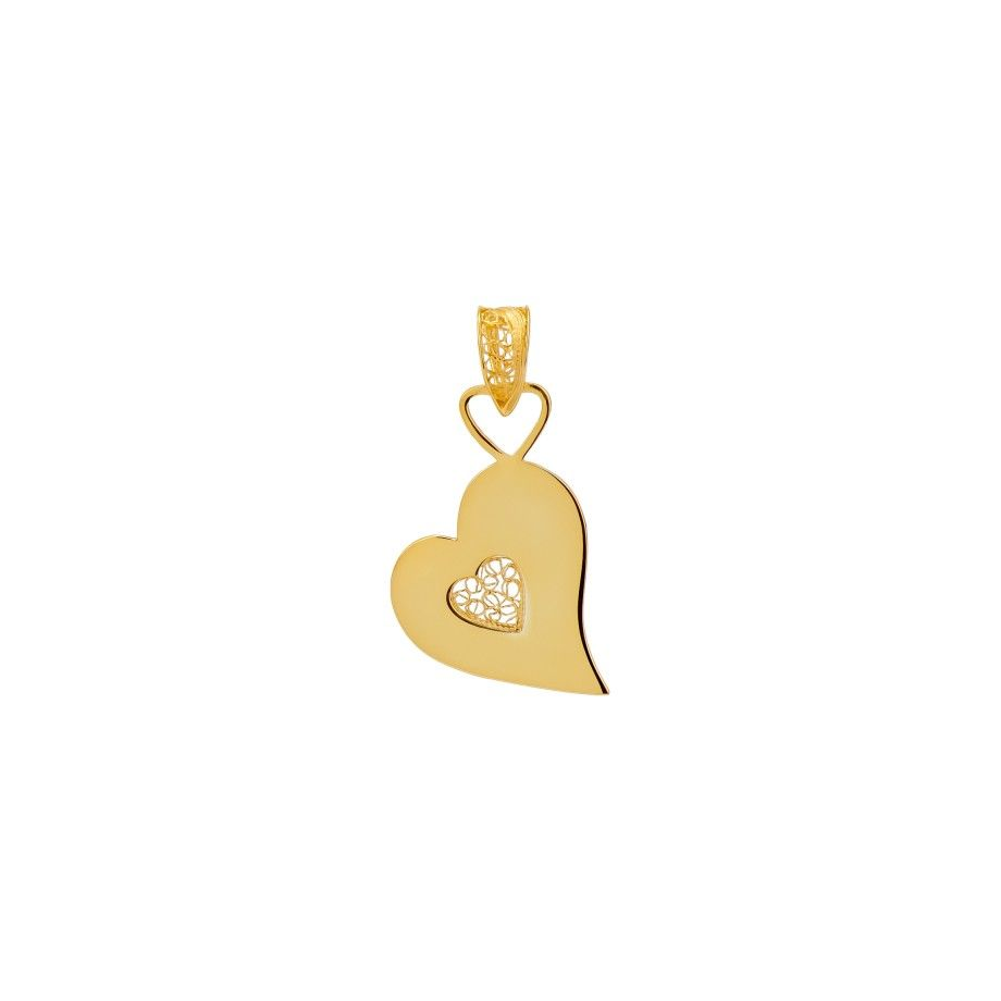 Pendant Heart S - Golden