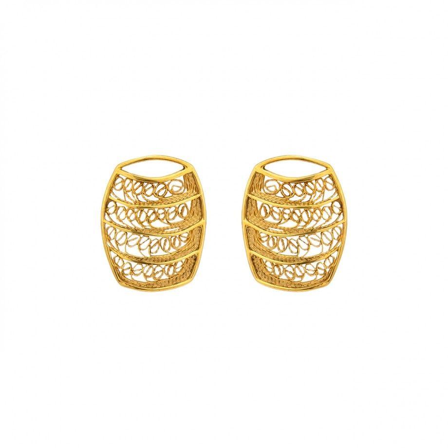Earrings Barrel - Golden