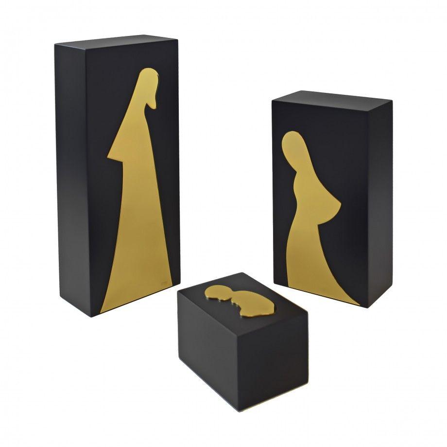 Nativity Scene Geometric L - Golden