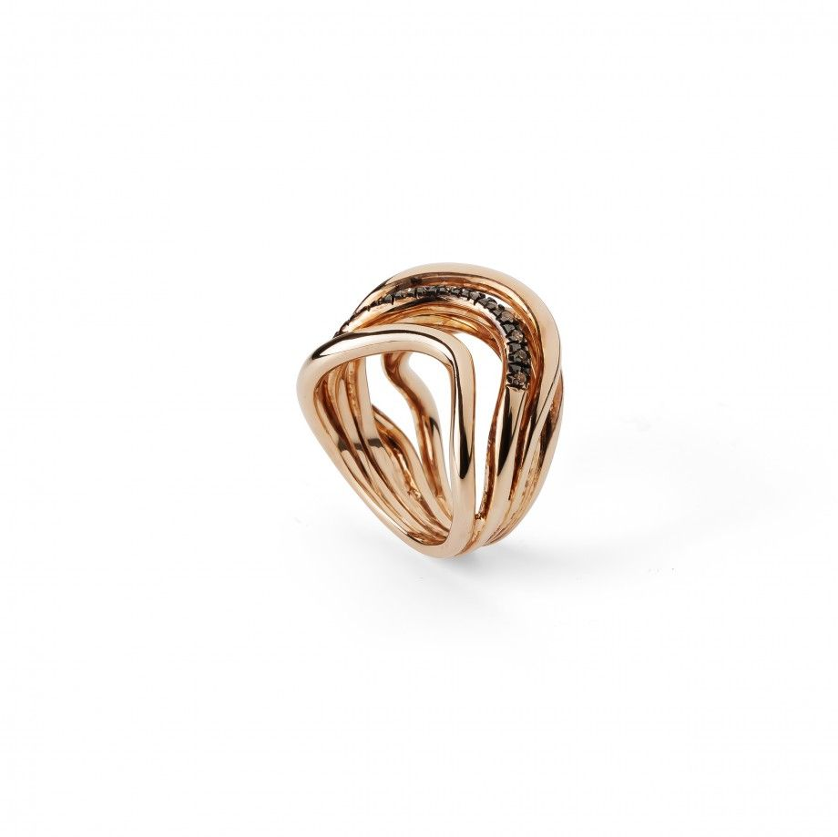 Ring Waves Golden Pink