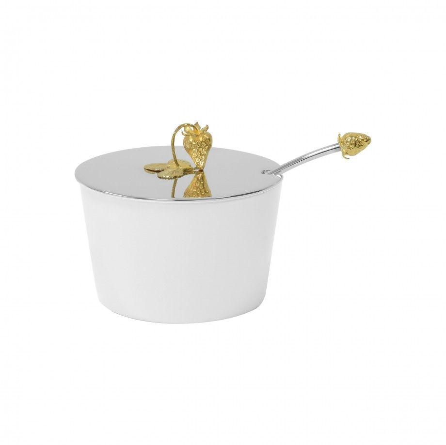 Jam Dish Strawberry Golden