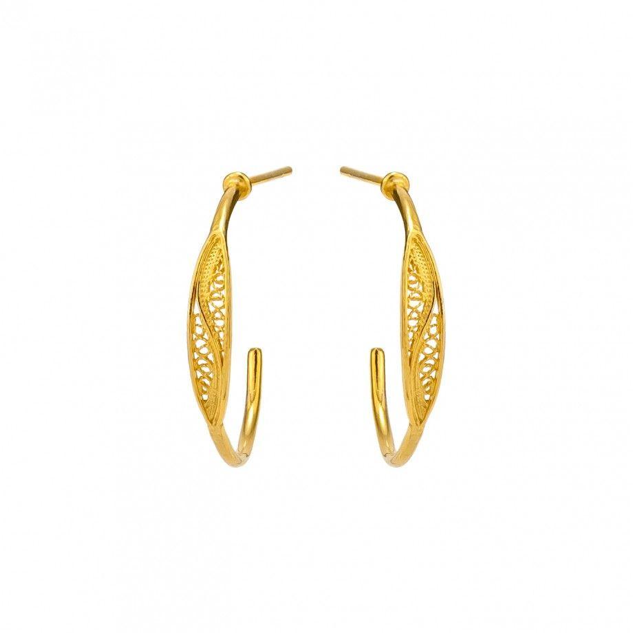 Hoop Earrings 2,5cm - Golden
